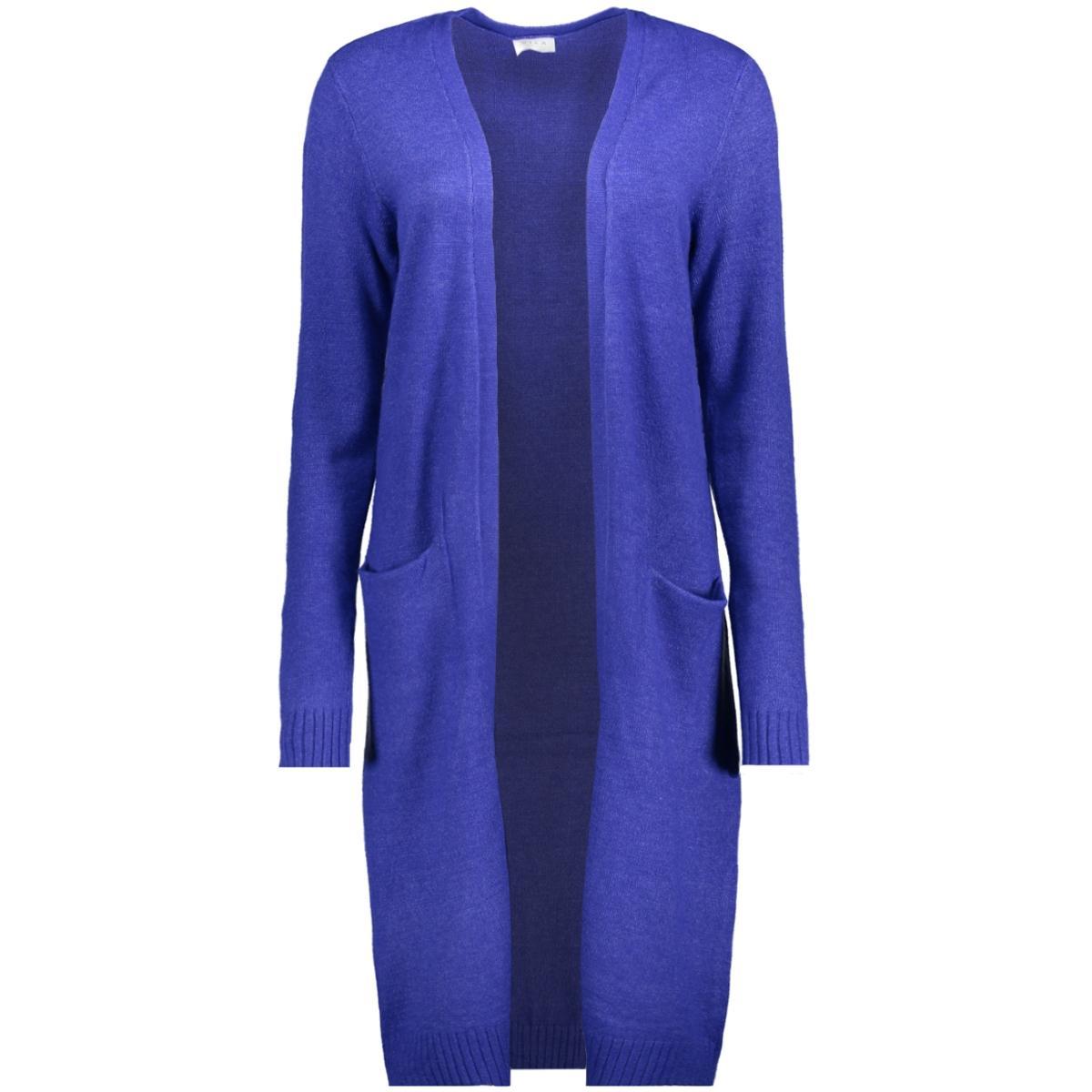 viril l/s long knit cardigan-fav 14043282 vila vest clematis blue/melange