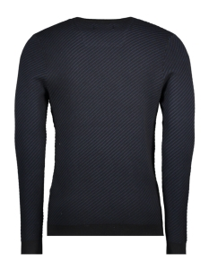 jcowest knit crew neck 12140191 jack & jones trui sky captain/knit fit