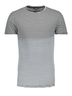 Only & Sons T-shirt onsHANSON BLEACHED STRIPED TEE 22011588 Cloud Dancer/BLACK
