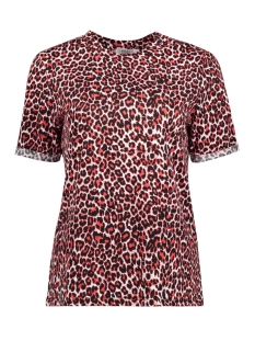 Pieces T-shirt PCTIA SS TEE JIT 17096077 High Risk Red/LEOPARD
