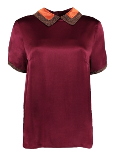 fw18x400 top lurex harper & yve blouse bordeaux