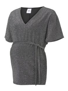Mama-Licious Positie shirt MLANNA 2/4 JERSEY TOP 20008851 Black/SILVER LUREX