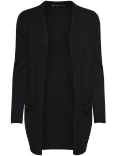 Only Vest onlQUEEN L/S LONG CARDIGAN KNT NOOS 15158746 Black