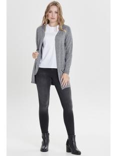 onlqueen l/s long cardigan knt noos 15158746 only vest medium grey melange
