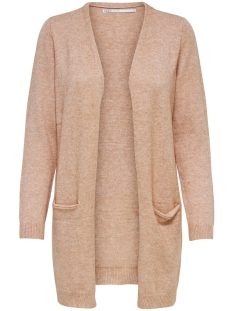 Only Vest onlQUEEN L/S LONG CARDIGAN KNT NOOS 15158746 Misty Rose/W.MELANGE