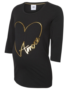 Mama-Licious Positie shirt MLHAILIE 3/4 JERSEY TOP A. 20009059 Black/GOLD FOIL