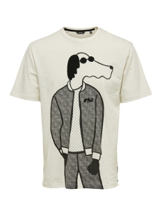Only & Sons T-shirt onsHYDE SS SLUB TEE REG 22011560 Cloud Dancer