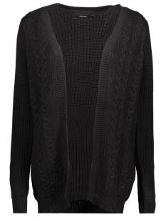 vmsigne cable ls cardigan 10204798 vero moda vest black/silver met