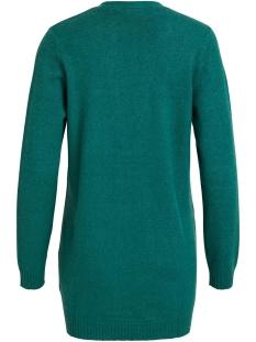 viril l/s  open knit cardigan-fav  14044095 vila vest bayberry/melange