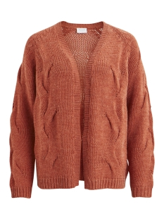 Vila Vest VICABLA KNIT OPEN L/S CARDIGAN 14047347 Redwood