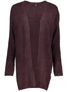 onlmiramar l/s long cardigan knt 15159079 only vest chocolate truffle