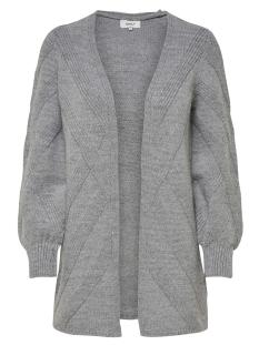 Only Vest onlNEW LUV L/S LONG CARDIGAN KNT 15161410 Light Grey Melange