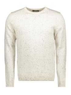 Jack & Jones Trui JPRAIDEN KNIT CREW NECK 12117129 Cloud Dancer/With Black