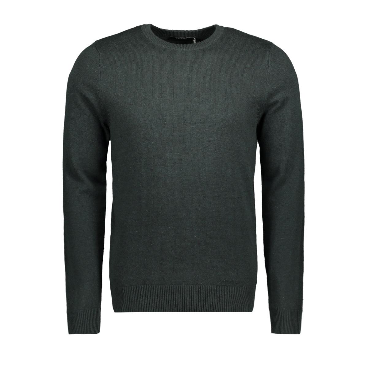 jpraiden knit crew neck 12117129 jack & jones trui scarab/with black