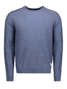 Jack & Jones Trui JCOFRESNO KNIT CREW NECK 12142850 Blue Denim/ KNIT FIT