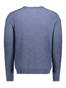jcofresno knit crew neck 12142850 jack & jones trui blue denim/ knit fit