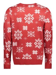 jorsnow knit crew neck 12146970 jack & jones trui scarlet sage/ knit