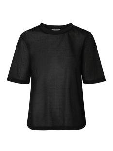 Pieces T-shirt PCLUA SS TOP CAMP 17094850 Black/LUREX