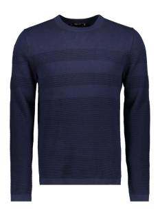 jprnow knit crew neck 12144580 jack & jones trui maritime blue