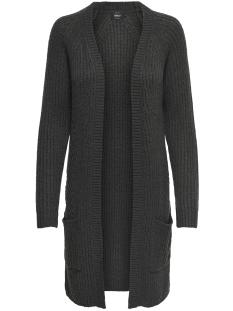 Only Vest onlBERNICE L/S CARDIGAN KNT NOOS 15165076 Dark Grey Melange