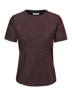 Pieces T-shirt PCLIZA SS ROUND NECK TOP PB 17092692 Black/WINETASTING
