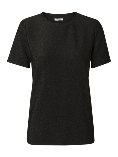 Pieces T-shirt PCLIZA SS ROUND NECK TOP PB 17092692 Black/BLACK LURE