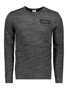 Jack & Jones T-shirt JCOANTON TEE LS GRANDAD 12143139 Black/SLIM-MEL