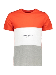 Jack & Jones T-shirt JORJOSH TEE SS CREW NECK 12143503 Fiery Red/SLIM
