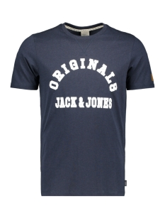 jordenver tee ss crew neck 12145919 jack & jones t-shirt total eclipse/slim