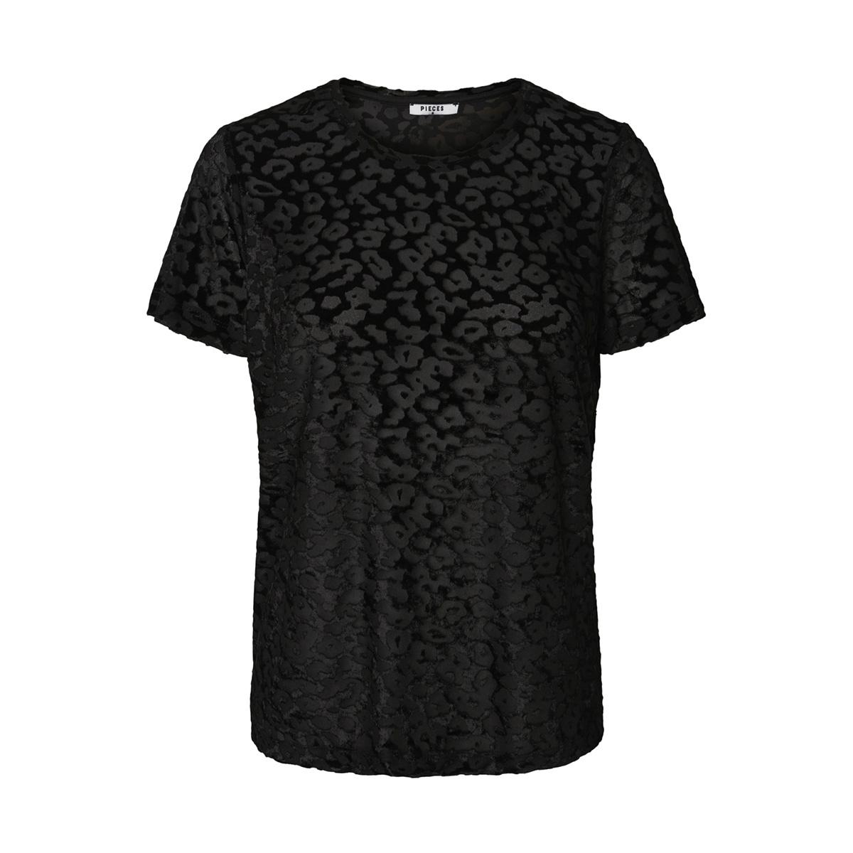 pcolli ss top d2d 17096302 pieces t-shirt black