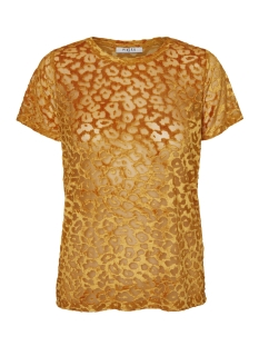 Pieces T-shirt PCOLLI SS TOP D2D 17096302 Inca Gold/GOL LEO