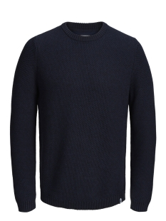 Jack & Jones Trui JCOTULSA KNIT CREW NECK 12142859 Black Navy/KNIT FIT