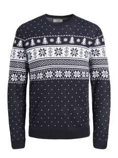 Jack & Jones Trui JORTREE KNIT CREW NECK 12146971 Total Eclipse/KNIT FIT