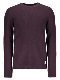 Jack & Jones Trui JCOOCTAVIO KNIT CREW NECK 12117161 Port Royale/ZIP DETAIL