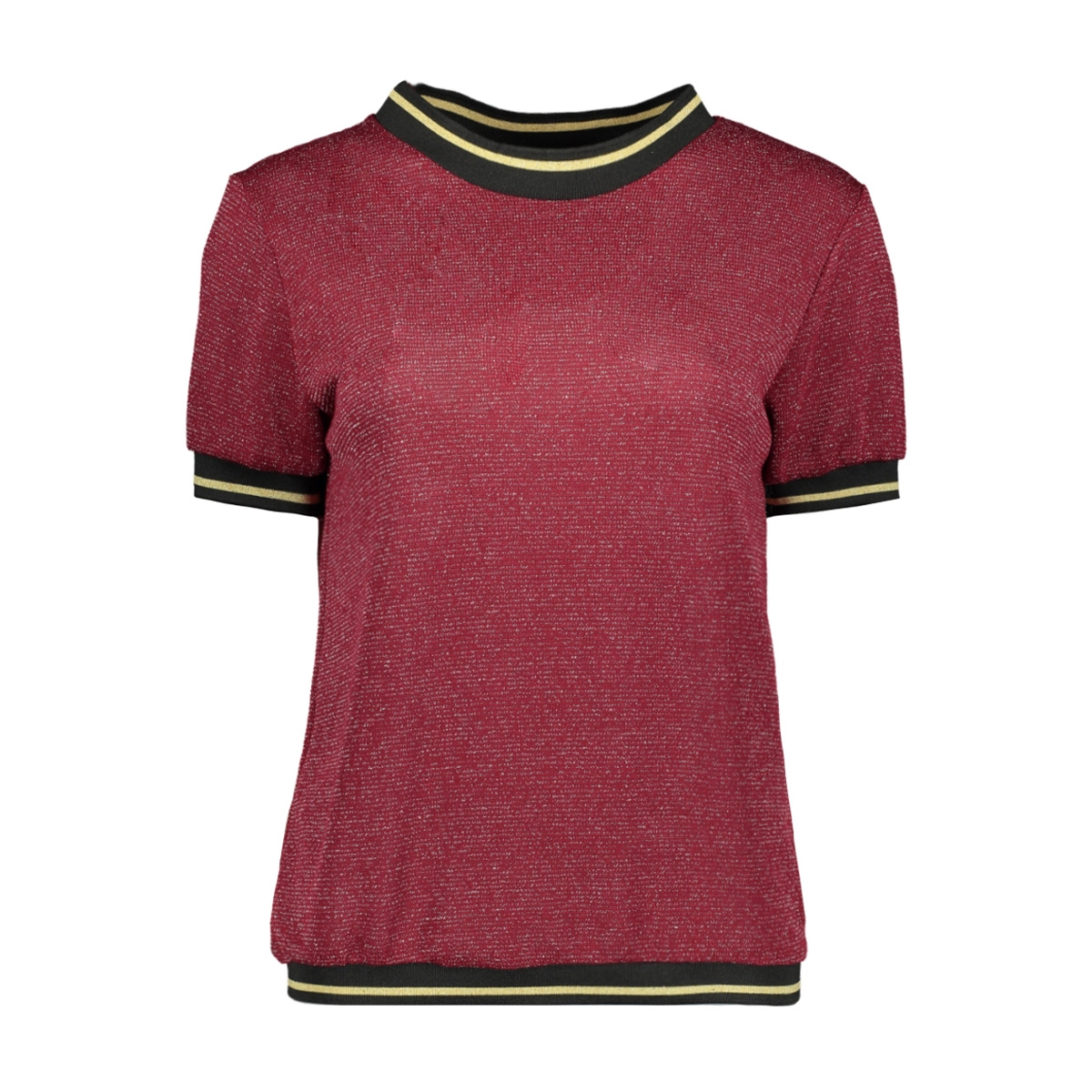 emilly glitter top luba t-shirt bordeaux