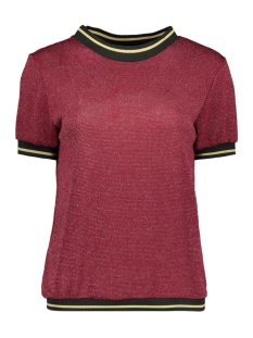 Luba T-shirt EMILLY GLITTER TOP BORDEAUX