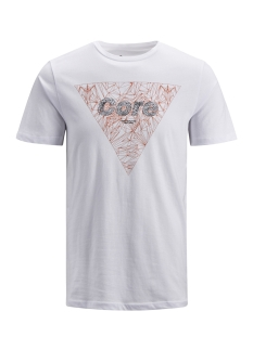 Jack & Jones T-shirt JCOBOOSTER TEE SS CREW NECK NOVEMBE 12156027 White/SLIM