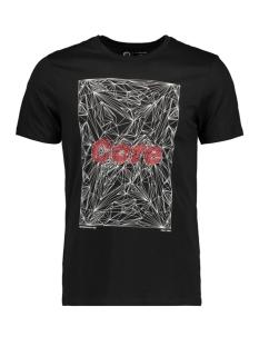 Jack & Jones T-shirt JCOBOOSTER TEE SS CREW NECK NOVEMBE 12156027 Black/SLIM