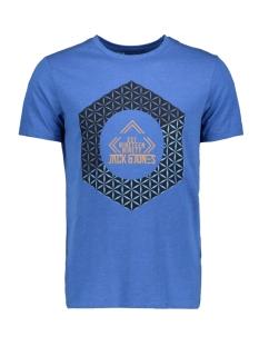 Jack & Jones T-shirt JCOBOOSTER TEE SS CREW NECK NOVEMBE 12156027 Classic Blue/MEL. SLIM