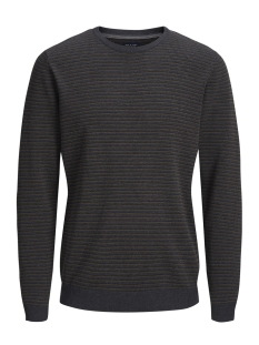 Jack & Jones Trui JPRBOSTON KNIT CREW NECK 12144049 Dark Grey Melange
