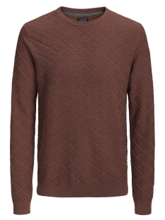 Jack & Jones Trui JPRBOSTON KNIT CREW NECK 12144049 Brandy Brown