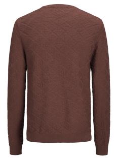 jprboston knit crew neck 12144049 jack & jones trui brandy brown
