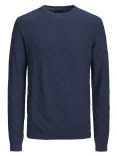 Jack & Jones Trui JPRBOSTON KNIT CREW NECK 12144049 Estate Blue/ Pattern As