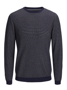 Jack & Jones Trui JPRBOSTON KNIT CREW NECK 12144049 Navy Blazer