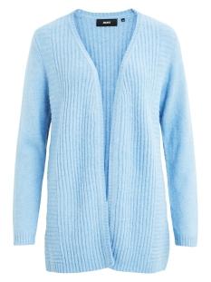 objnonsia rib l/s knit cardigan sea 23027810 object vest heritage blue