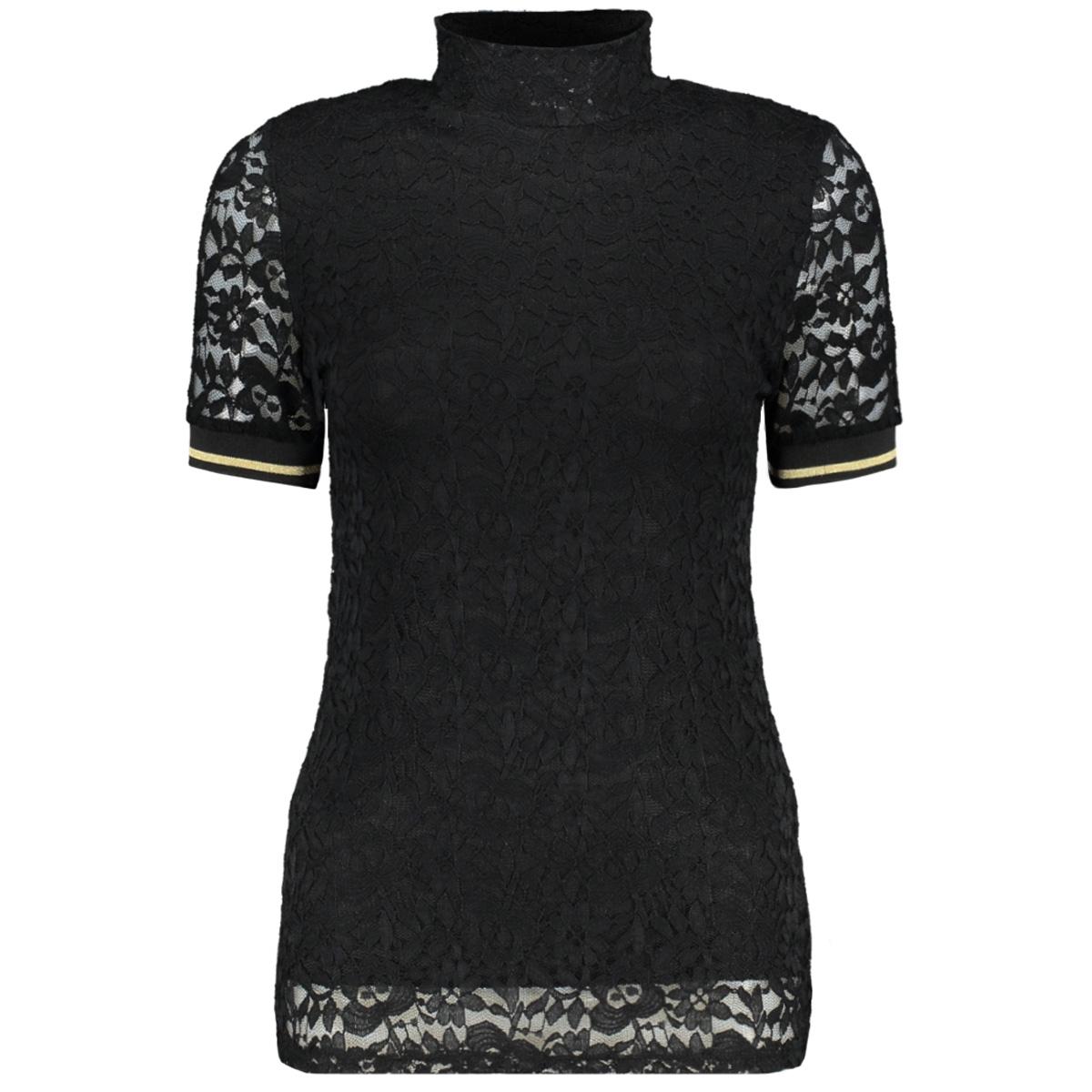 8389 emilly top kant luba t-shirt zwart