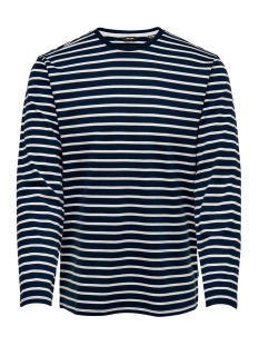 onsevan heavy ls tee noos 22012122 only & sons t-shirt dress blues/cloud