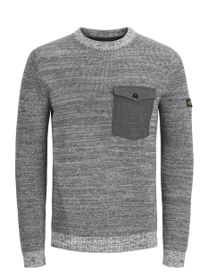 Jack & Jones Trui JCOCRAFT KNIT CREW NECK 12145339 Light Grey Melange/KNIT FIT