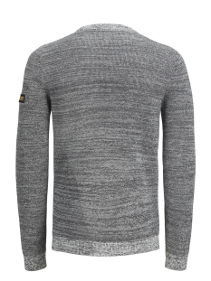 jcocraft knit crew neck 12145339 jack & jones trui light grey melange/knit fit