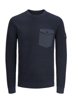 Jack & Jones Trui JCOCRAFT KNIT CREW NECK 12145339 Sky Captain/KNIT FIT